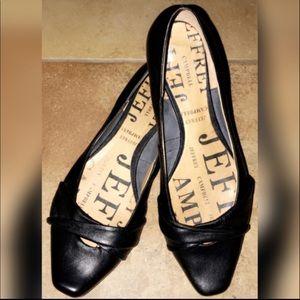 Jeffrey Campbell Lisa Black Leather Flats